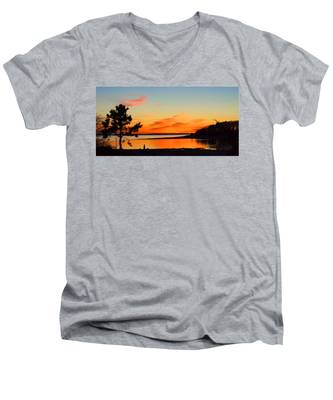 Sunset Serenity Men's V-Neck T-Shirt