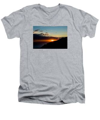 Men's V-Neck T-Shirt featuring the photograph Sunset,beauty-05 by Joseph Amaral
