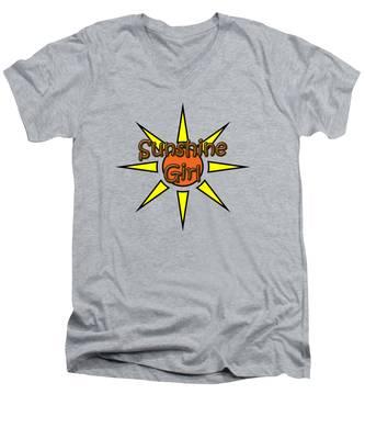Sunshine Girl Men's V-Neck T-Shirt