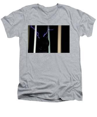 Tesla Coil 5 Men's V-Neck T-Shirt