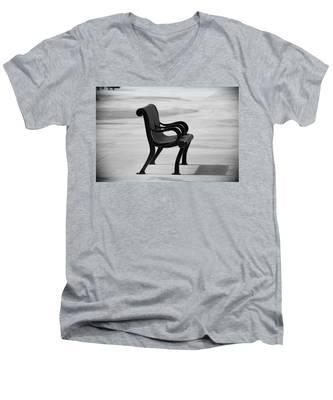 The Pier Bench Men's V-Neck T-Shirt