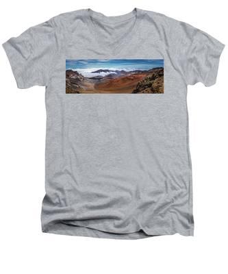 Top Of Haleakala Crater Men's V-Neck T-Shirt