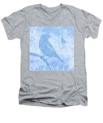 Tree Birds I Men's V-Neck T-Shirt