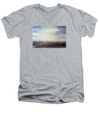 Twilight Settles On The Moors Men's V-Neck T-Shirt