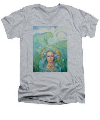 Under The Waves Men's V-Neck T-Shirt