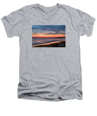 Wales Gower Coast Dusk Men's V-Neck T-Shirt