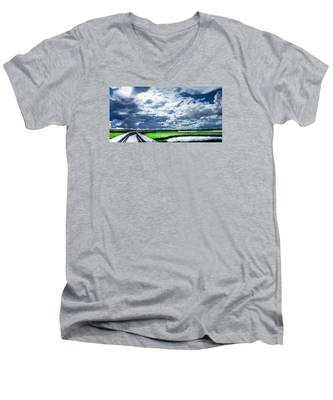 Walk With Me In The Sky Men's V-Neck T-Shirt