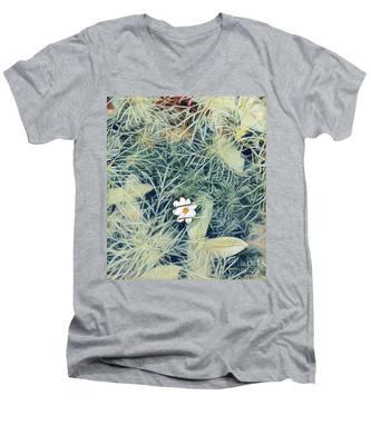White Cosmo Men's V-Neck T-Shirt