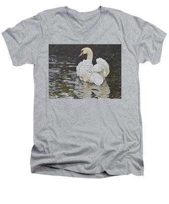 White Swan Men's V-Neck T-Shirt