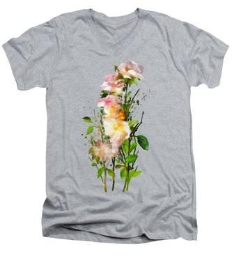 Wild Roses Men's V-Neck T-Shirt