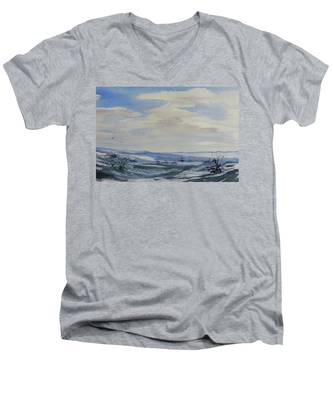 Winter Wilds Men's V-Neck T-Shirt