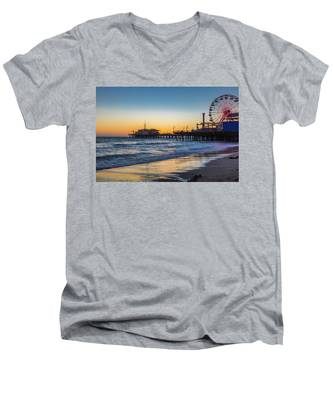 Pacific Park On The Pier Men's V-Neck T-Shirt