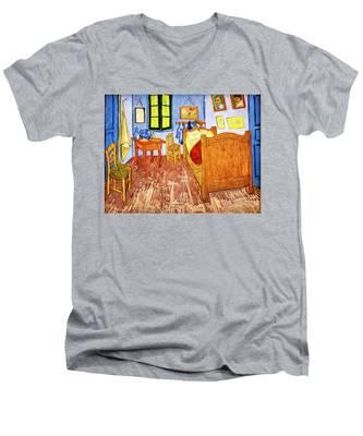 Van Gogh's Bedroom Men's V-Neck T-Shirt