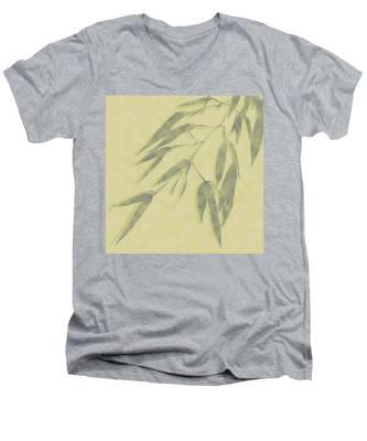 Bamboo Leaves 0580b Men's V-Neck T-Shirt