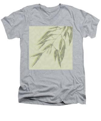 Bamboo Leaves 0580c Men's V-Neck T-Shirt