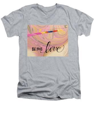 Be The Love Men's V-Neck T-Shirt