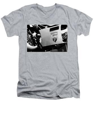 Beech At-11 Bw Men's V-Neck T-Shirt