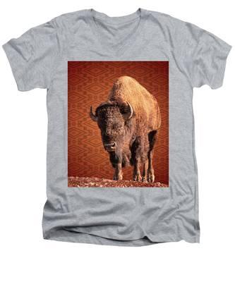 Bison Blanket Men's V-Neck T-Shirt