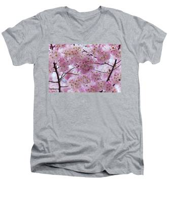 Cherry Blossoms 8625 Men's V-Neck T-Shirt