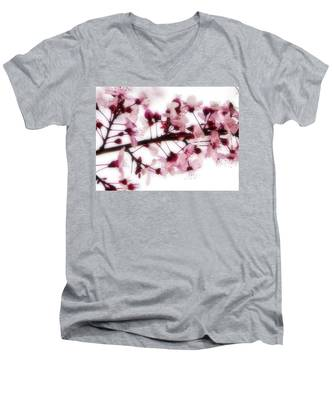 Cherry Triptych Center Panel Men's V-Neck T-Shirt
