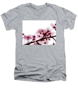 Cherry Triptych Left Panel Men's V-Neck T-Shirt