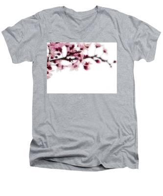 Cherry Triptych Right Panel Men's V-Neck T-Shirt