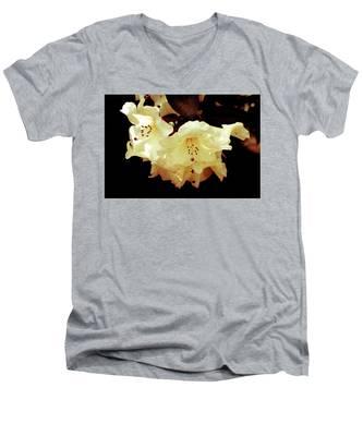 Creamy Rhododendron Men's V-Neck T-Shirt