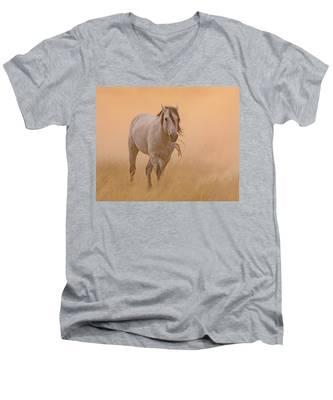 Dusty Evening Men's V-Neck T-Shirt
