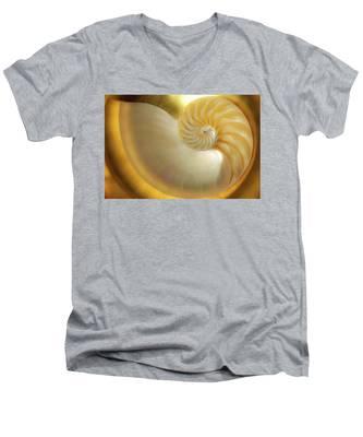 Golden_nautilus_0692 Men's V-Neck T-Shirt
