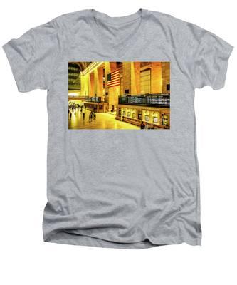 Grand Central Station Men's V-Neck T-Shirt