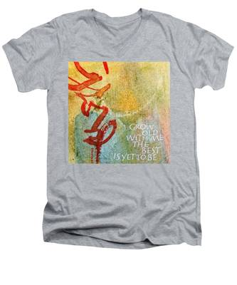 Grow Old With Me Men's V-Neck T-Shirt