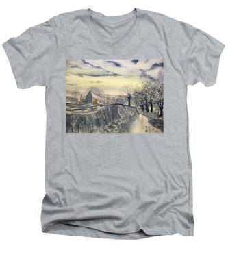 Hag Dyke By Moonlight Men's V-Neck T-Shirt