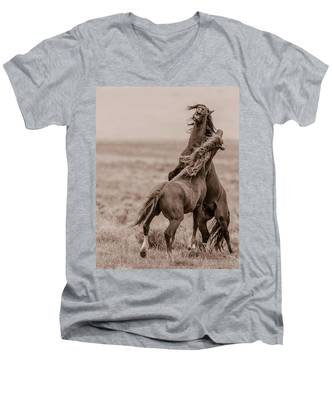 He Means It Men's V-Neck T-Shirt