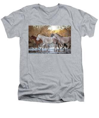 In The River Men's V-Neck T-Shirt