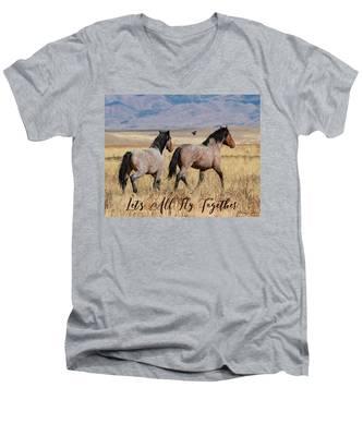 Let's All Fly Together Men's V-Neck T-Shirt