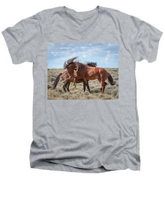 Mane For Days Men's V-Neck T-Shirt