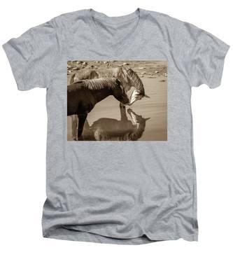 Mirrored Souls Men's V-Neck T-Shirt