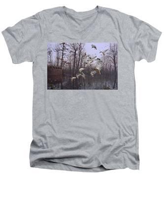 Monday Morning Mallards Men's V-Neck T-Shirt