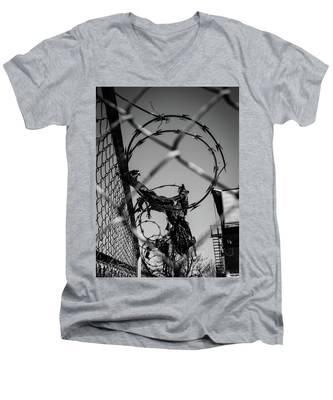 More Barriers Men's V-Neck T-Shirt