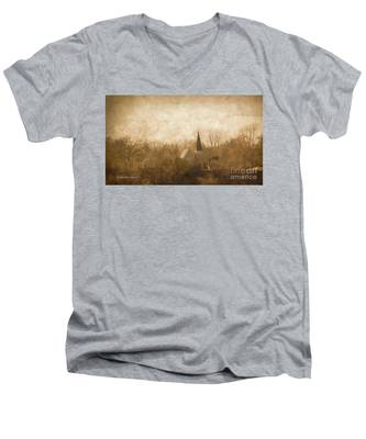 Old Church On A Hill  Men's V-Neck T-Shirt