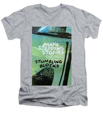 Stepping Stones Men's V-Neck T-Shirt