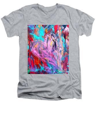 Strength Of My Heart Men's V-Neck T-Shirt