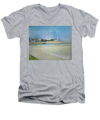 The Channel Of Gravelines Grand Fort Philippe Men's V-Neck T-Shirt