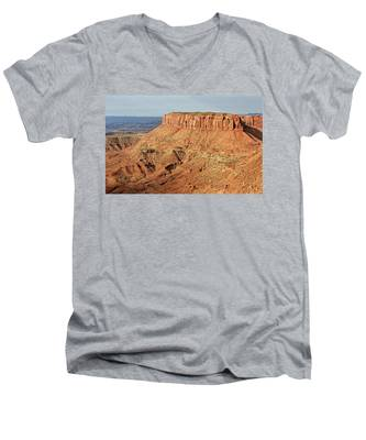 Men's V-Neck T-Shirt featuring the photograph The Mesa by Kyle Lee