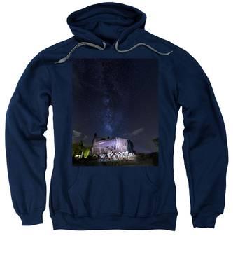 Big Muskie Bucket Milky Way And A Shooting Star Sweatshirt