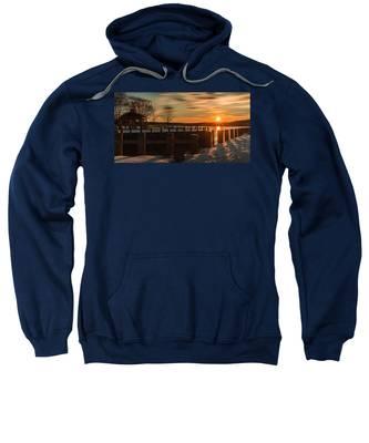 Northport New York Winter Sunset Sweatshirt
