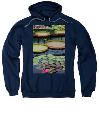 Waterlilies And Platters 2 Sweatshirt
