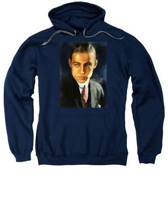 Portrait Of Rudolph Valentino Sweatshirt