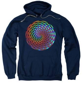 Rainbow Rings Spiral Sweatshirt