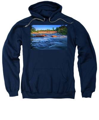 Sunrise On Watson Mill Bridge Sweatshirt